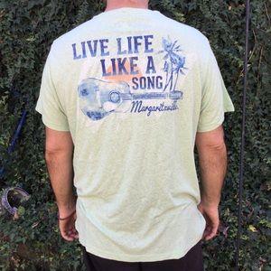 Margaritaville T-Shirt Short Sleeves, One pocket.